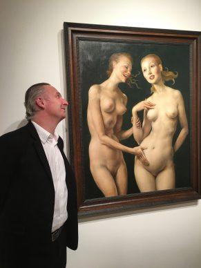 Brett Gorvy+ John Currin  painting
