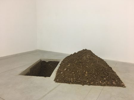Grave by Maurizio Cattelan