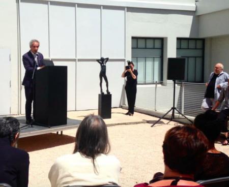 Bernard Blistene speaking at Le Consortium