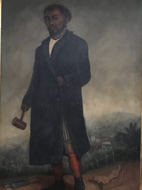 An imaginary portrait of  Aleijadinho