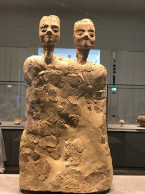 Jordanian statue about 6500  BC