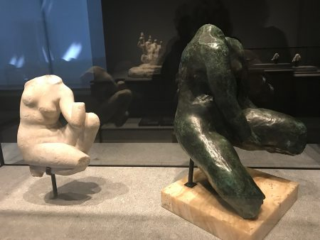 Roman antic and a Rodin sculpture