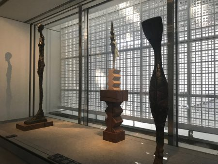 Giacometti, Brancusi and a guinean sculpture