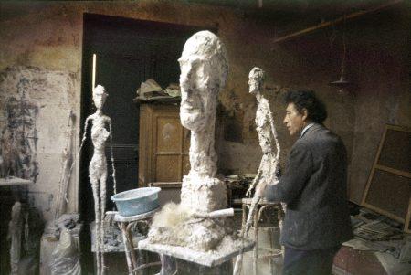 In the studio of  Giacometti by Ernst Scheidegger