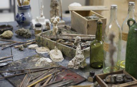 Reconstitution  of the studio of Alberto Giacometti