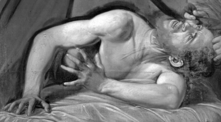 Infrared Reflectography, Caravaggio? (detail)