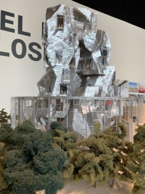 The model of the Gehry tower