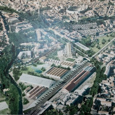 Bird's-eye view of the Parc des ateliers