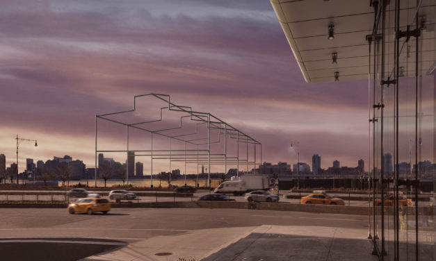David Hammons: the latest New York monument is an extraordinary ghostly structure stretching over the Hudson